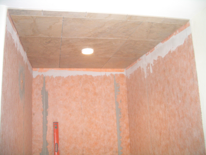 How To Install Tile On A Shower Ceiling
