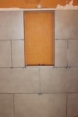 Bare niche for mosaics