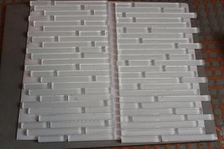 mosaic sheet cut in half
