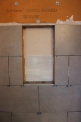 mosaic sheet in niche