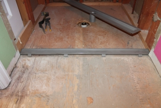 Installation Of Laticrete Linear Drain Part 1