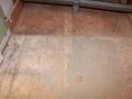 marking the shower floor for laticrete linear drain