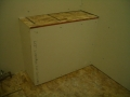 Rectangular shower bench frame6353