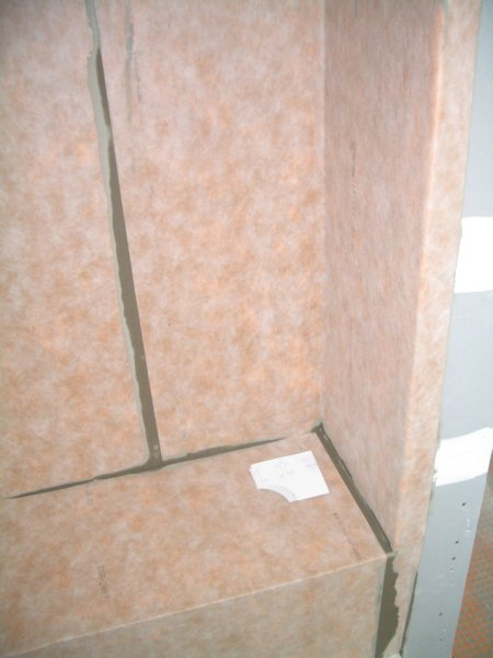 Kerdi waterproofed shower bench5824
