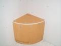 Arced corner shower bench5428