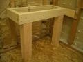 Rectangular shower bench frame6340