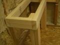 Rectangular shower bench frame6341
