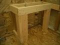 Rectangular shower bench frame6344