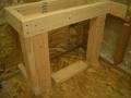 Rectangular shower bench frame6345
