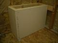 Rectangular shower bench frame6348
