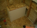 Rectangular shower bench frame6351