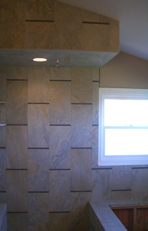 Porcelain and glass tile installation contractor in Windsor, Colorado