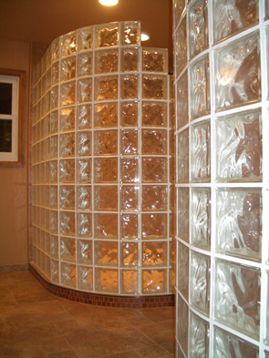 Custom glass block installation Fort Collins, Loveland, Northern Colorado