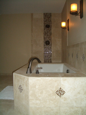 Natural stone and glass tile installation contractor in Fort Collins, Colorado