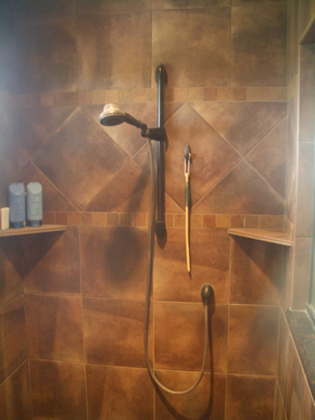 Porcelain tile installation contractor Northern Colorado