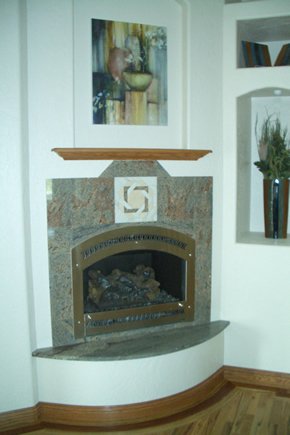 Custom fireplace Tile Installation Fort Collins, Colorado