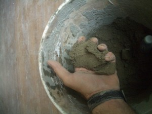 Image of properly prepared deck mud