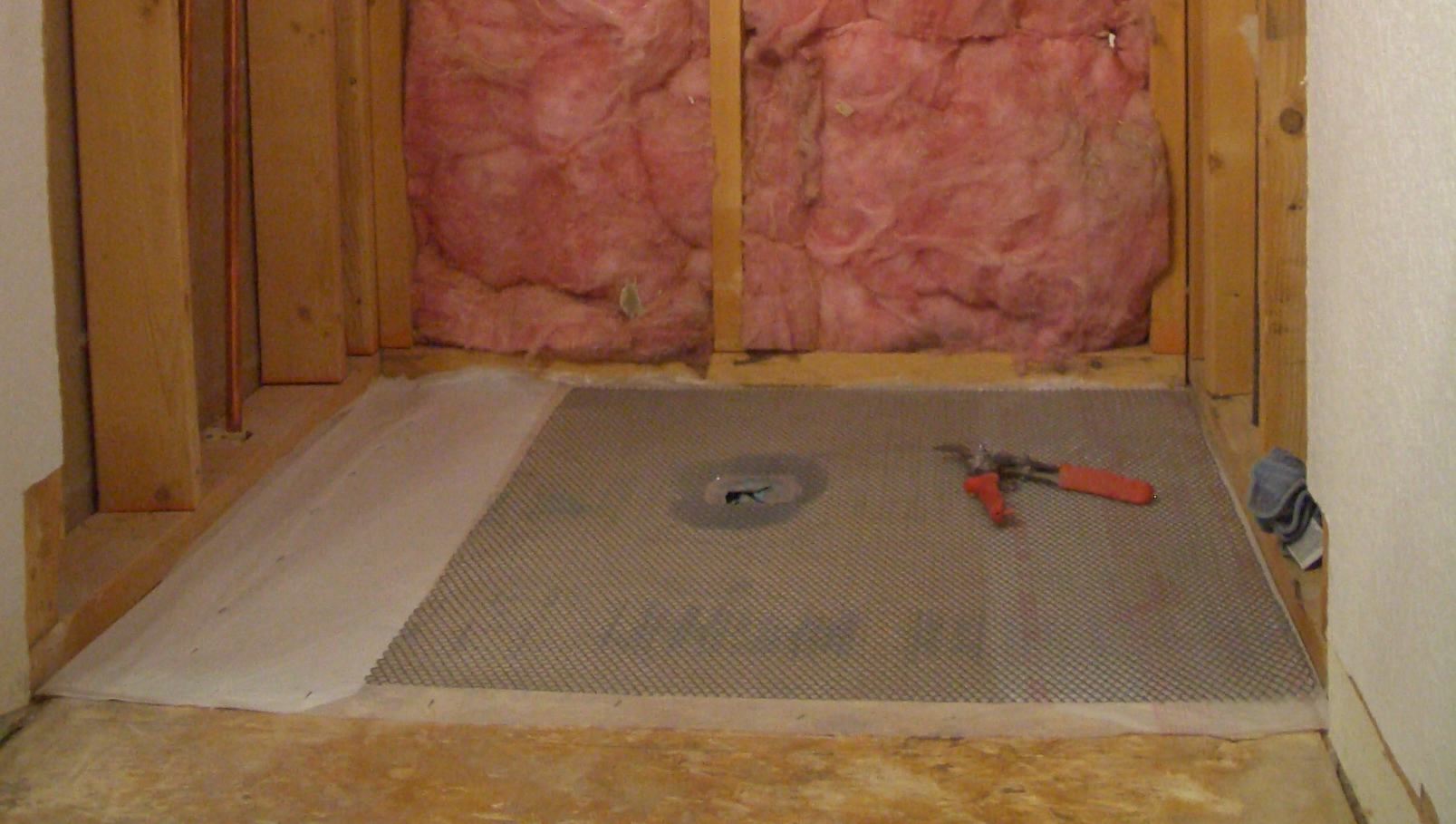 waterproof bathroom flooring how to create a shower floor part 1 15022