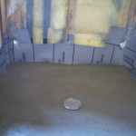 Completed shower mud bed