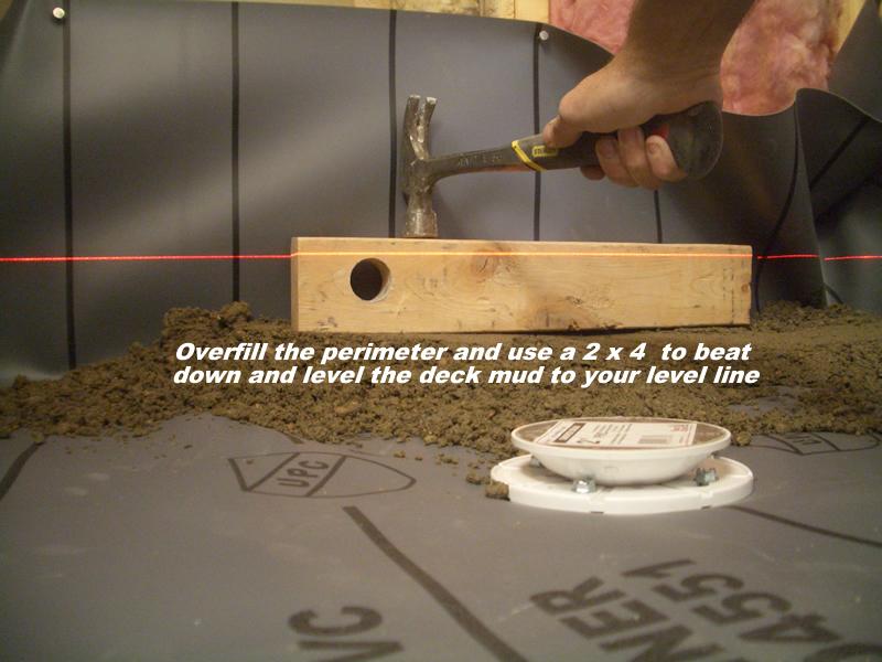 Merveilleux Creating A Level Perimeter A Shower Floor