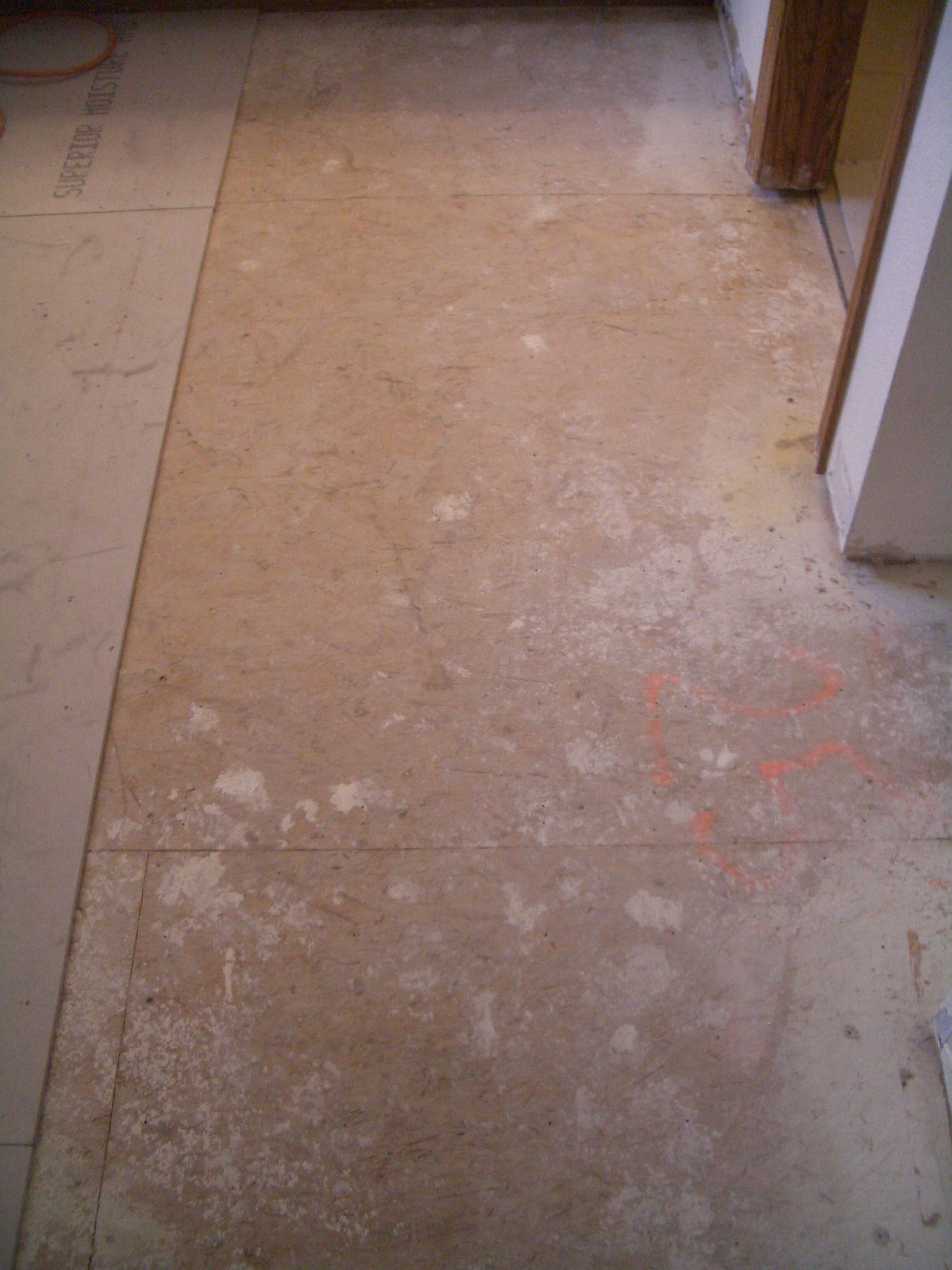 Dry Ing Backerboard On Floor