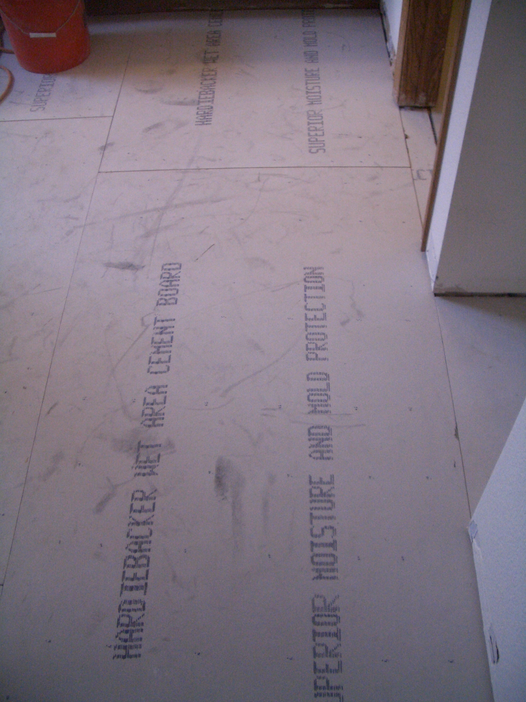 How to install cement backerboard for floor tile backerboards dry fitted into room dailygadgetfo Gallery
