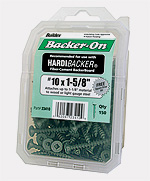 Backerboard screw pack