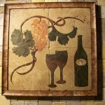 Wine mural by A Pile of Tile