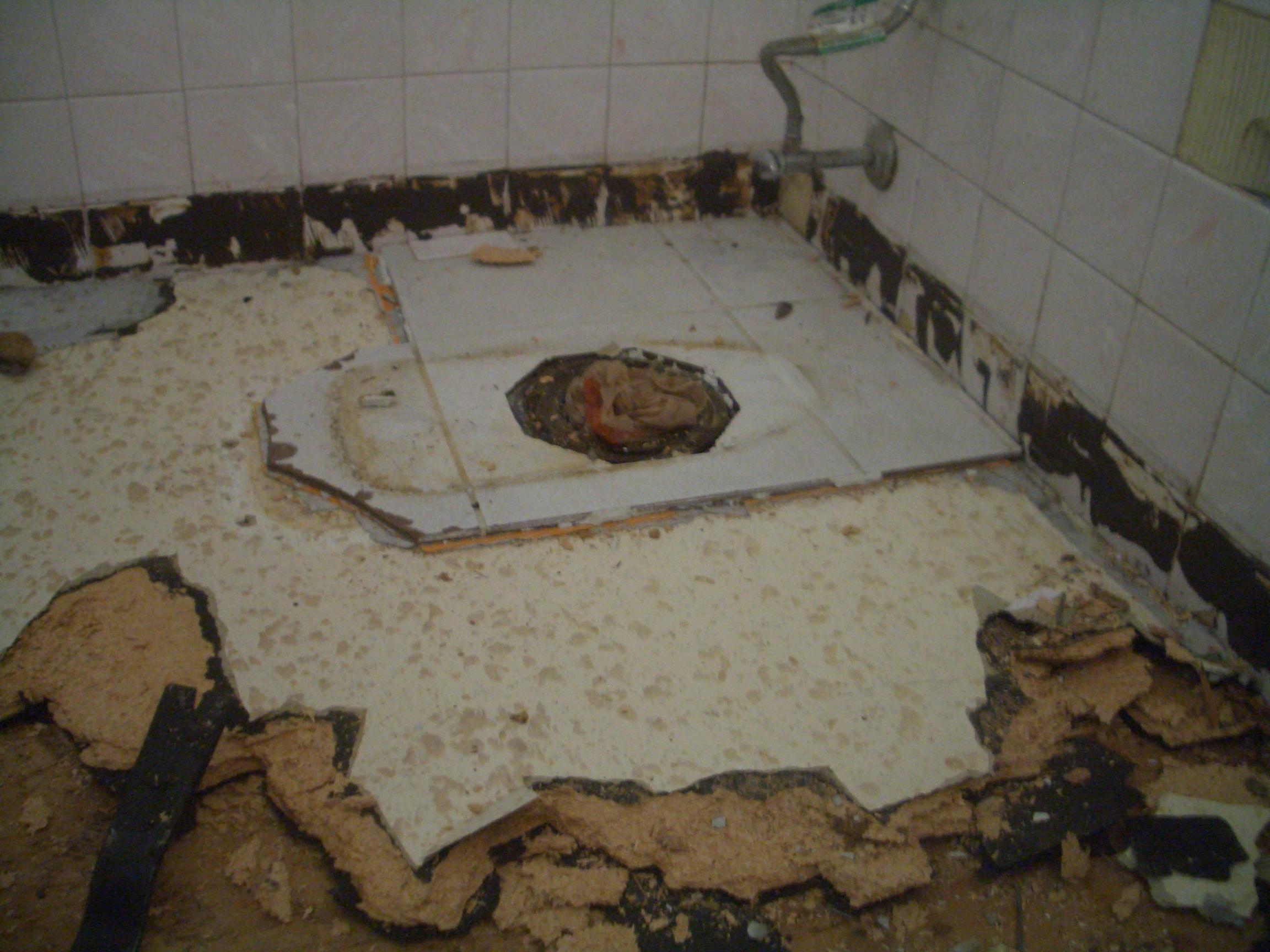 Flawed Tile Work - Materials for tile floor installation