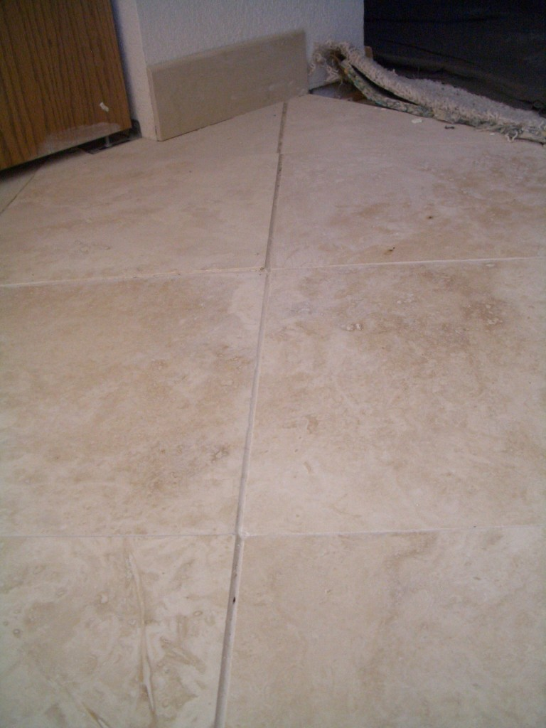 Inconsistent grout lines, lippage, not even, etc., etc...