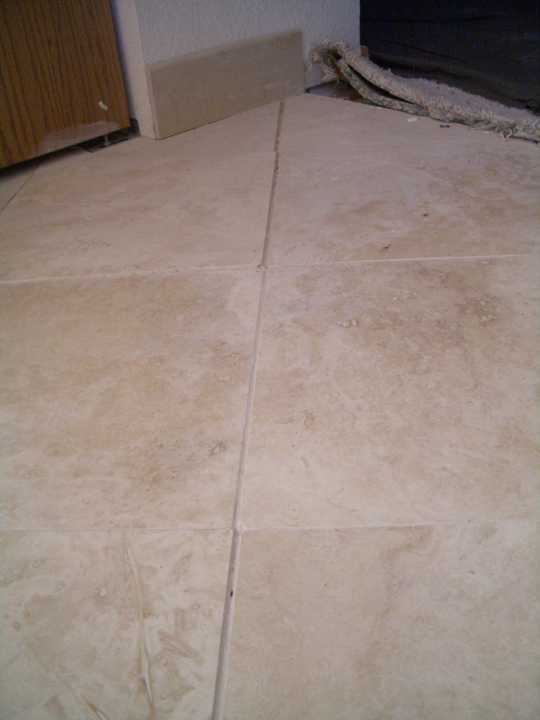 Tile floor no grout