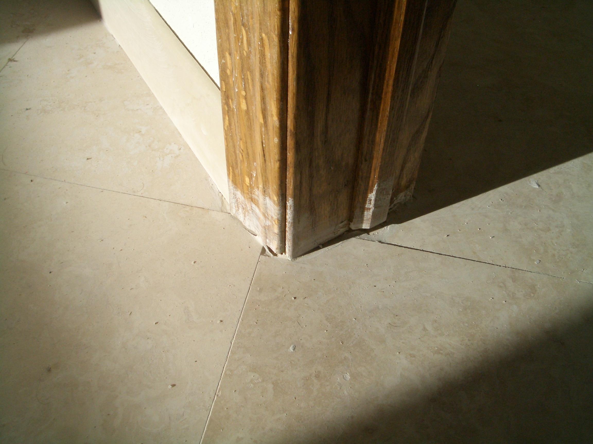 Tile work crap cuts around door jamb dailygadgetfo Choice Image