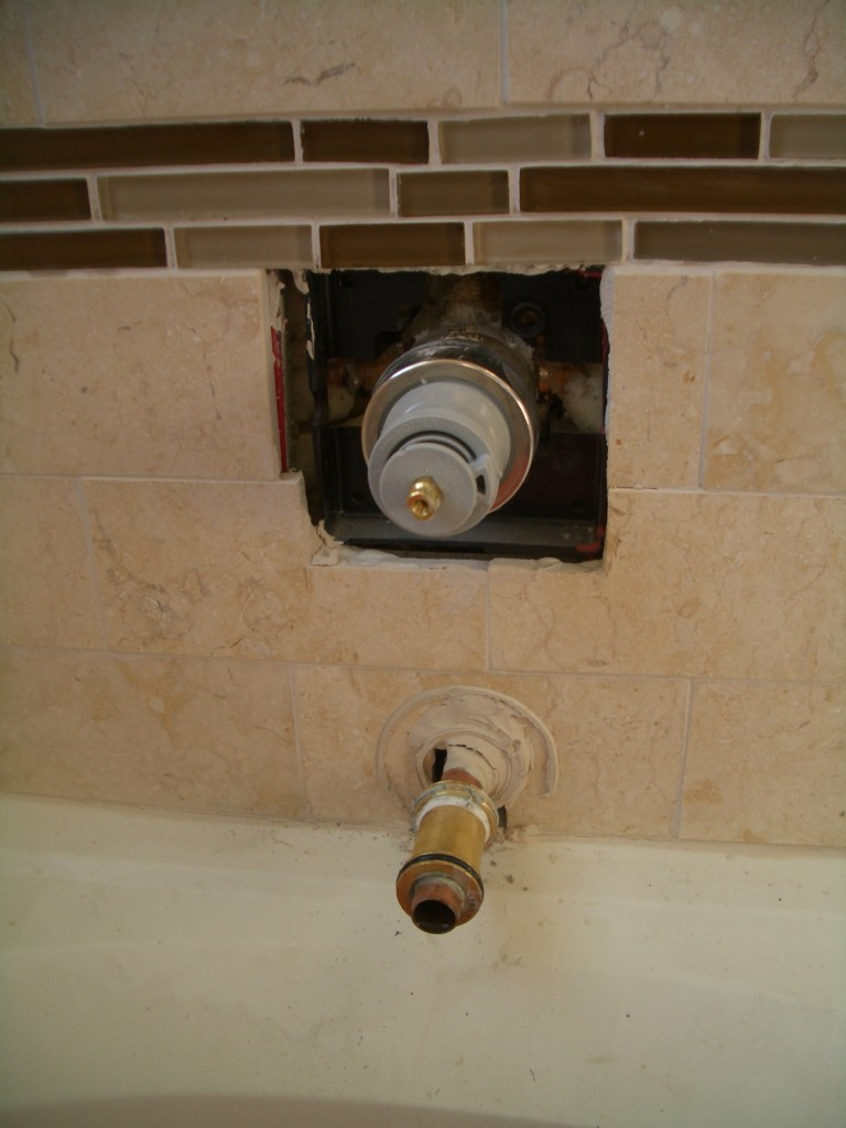 The incorrect way to seal your tub spout