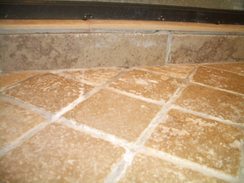 Must be substandard grout. Yeah, nothing wrong with the substrate...