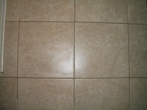 Repaired floor tile