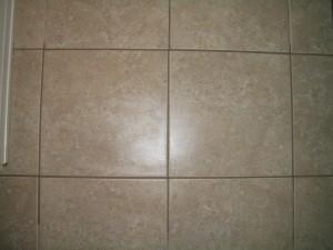 Repaired floor tile