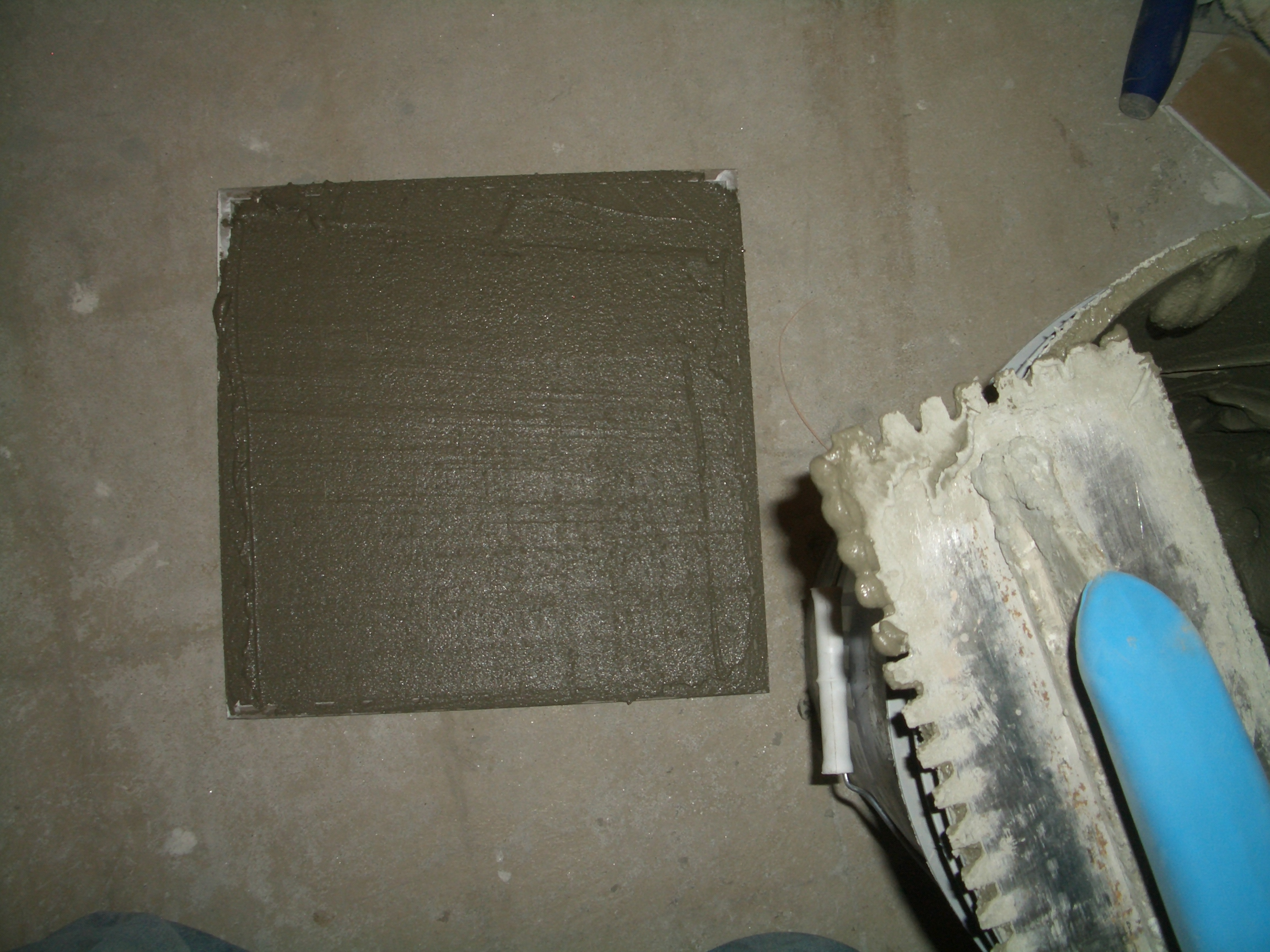 To install tile on a shower ceiling thinset burned into the back of the tile dailygadgetfo Choice Image
