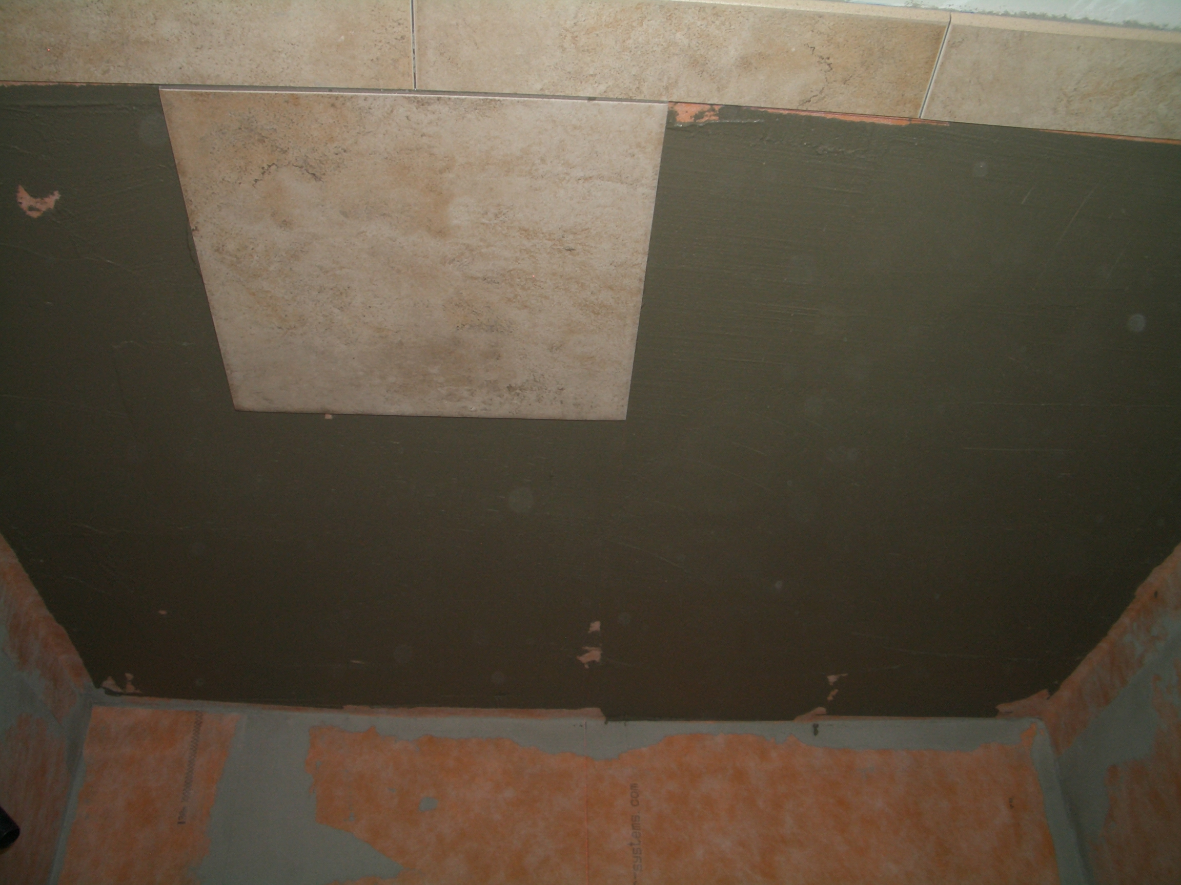 How to install tile on a shower ceiling tile stuck to ceiling of shower dailygadgetfo Image collections