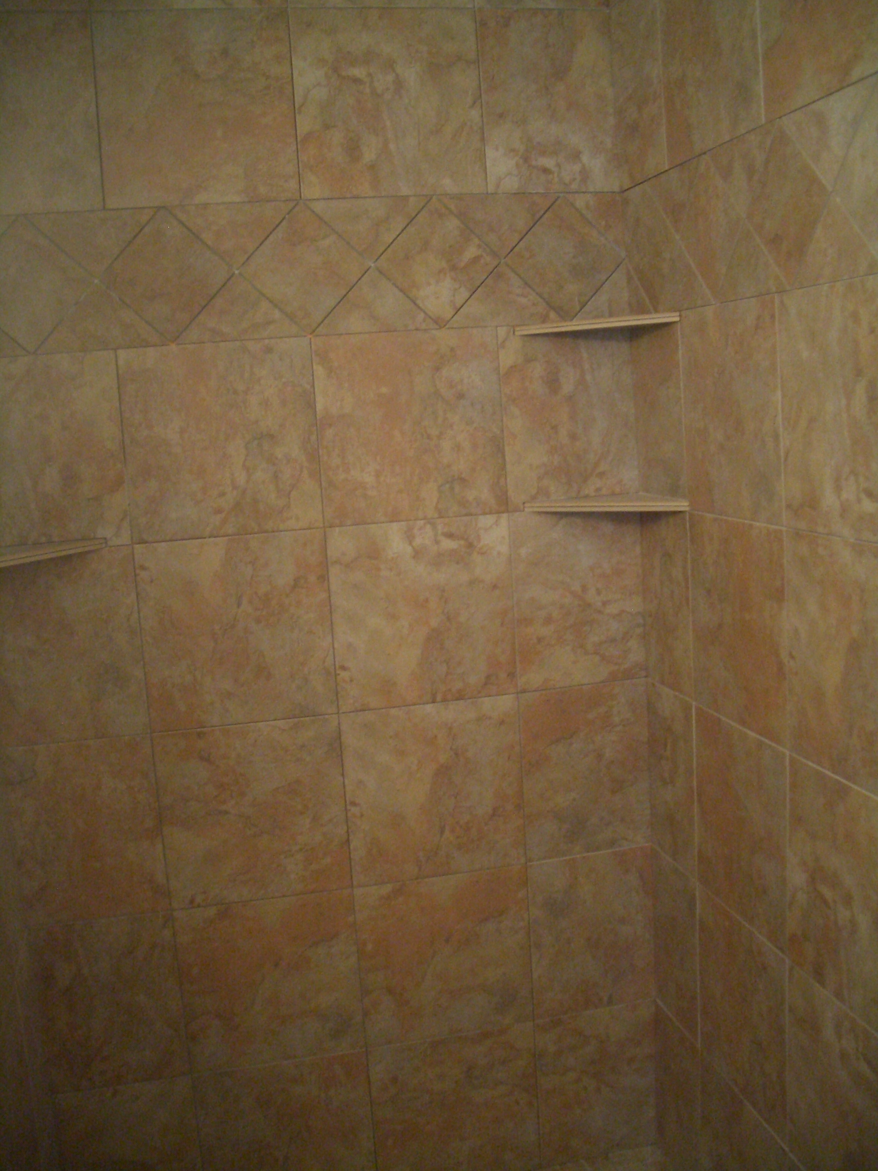Ceramic Tile Shower Corner Shelf