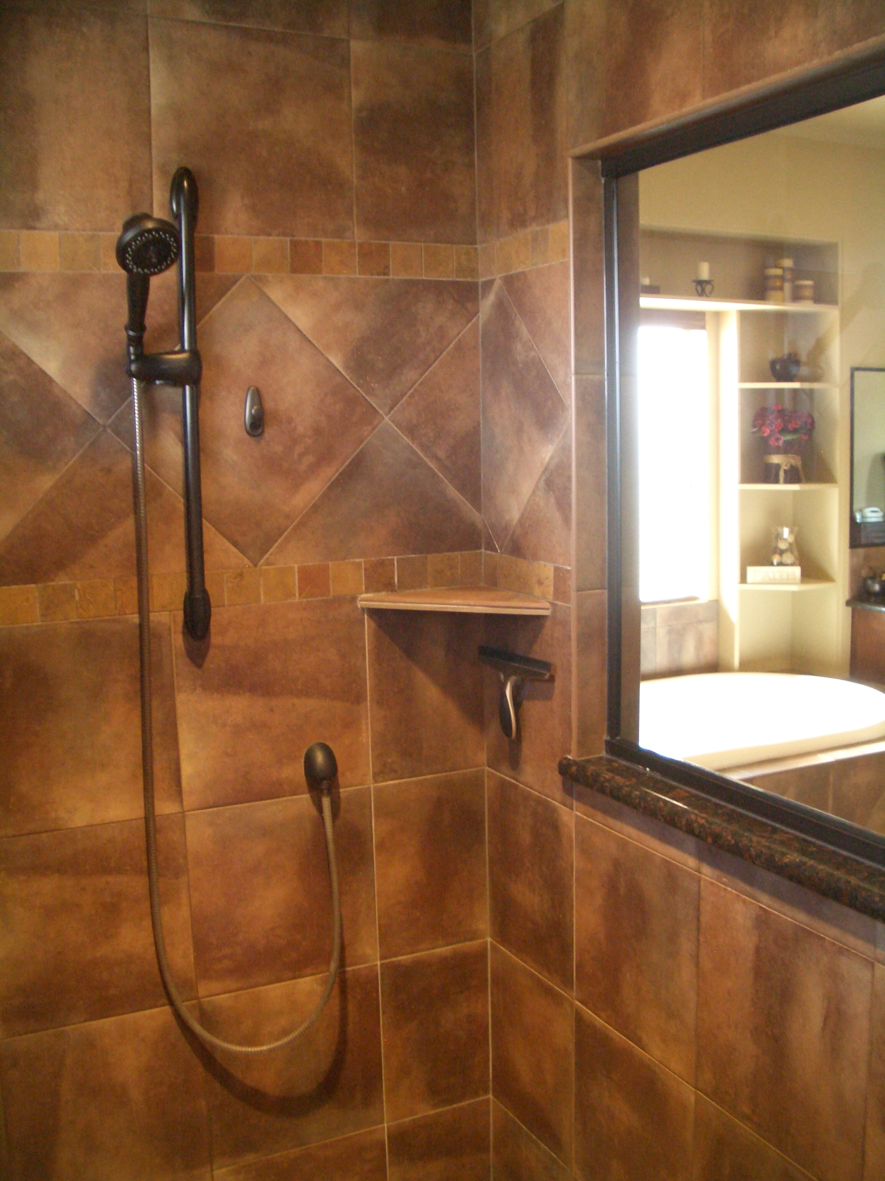 How to build a tiled shower tub - How To Build A Shower Shelf