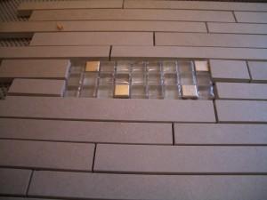 glass mosaic insert