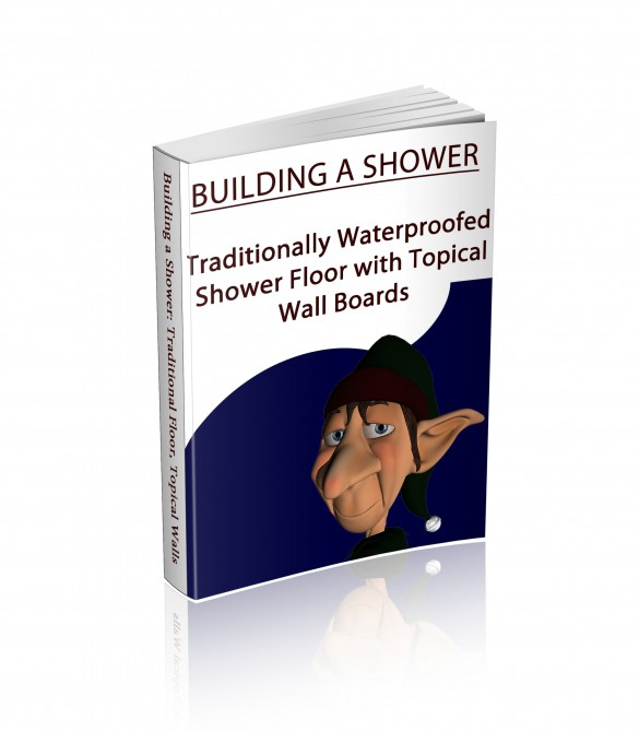 Traditional shower floor with topical wall building manual