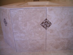 Access panel completed with tile installed