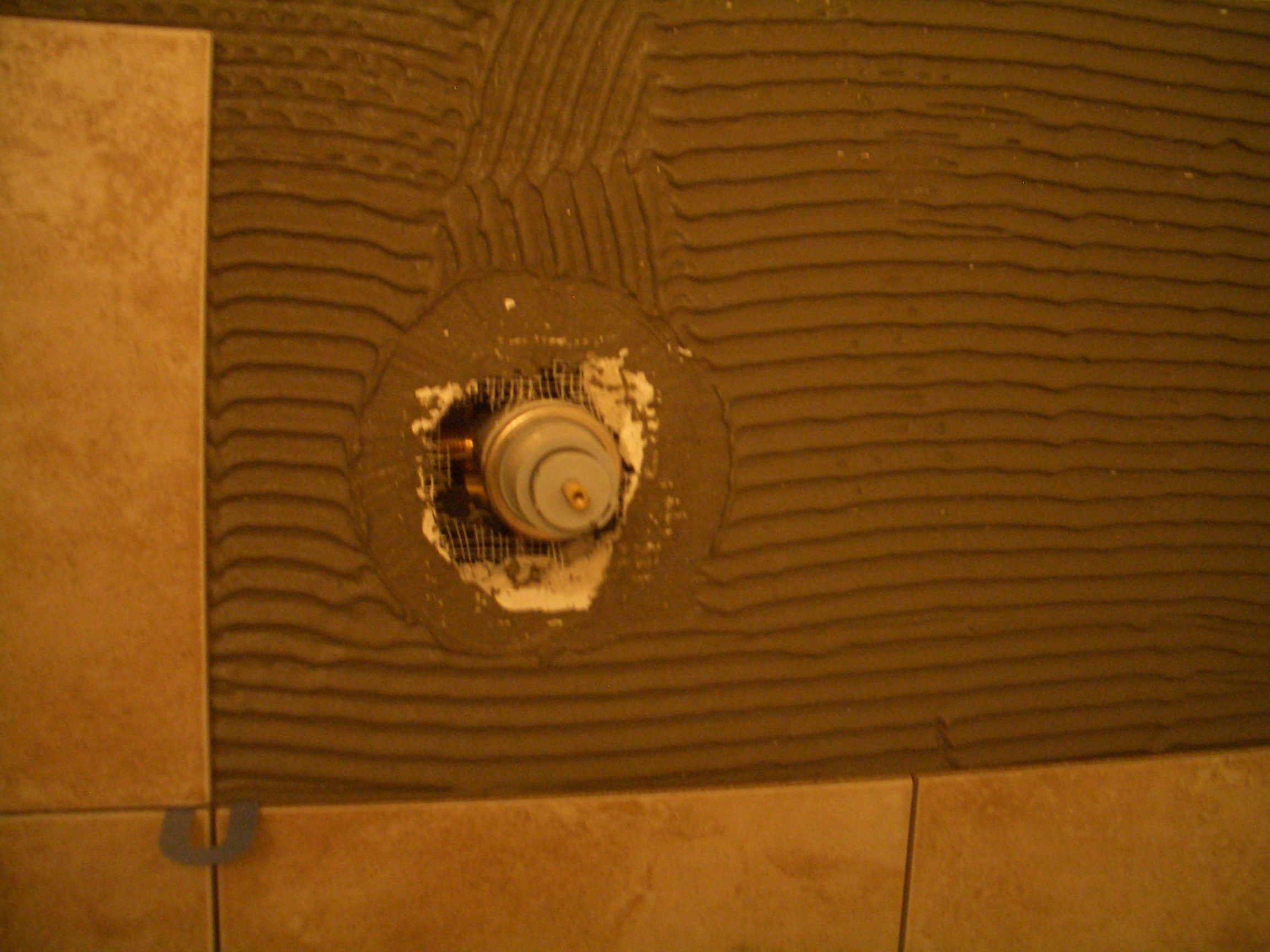Waterproofing Cutout Holes For Fixtures In Shower Wall Tile