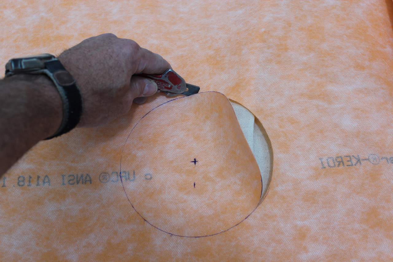 how to cut circles with exacto knife