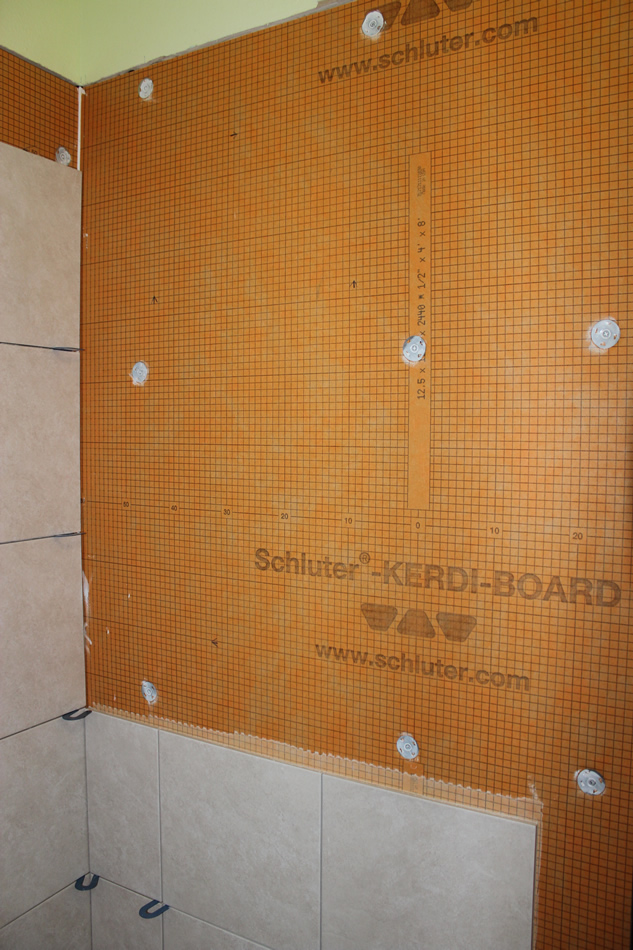 Merveilleux Tile Installaed To A Row Below The Niche Location This Particular Shower  Uses Kerdi Board ...