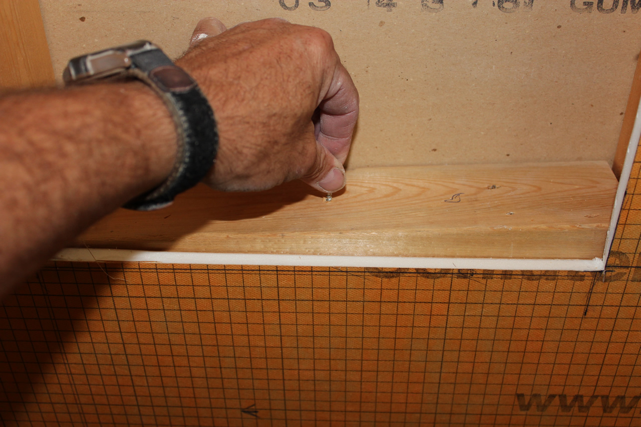 with a kerdi shower board completed building niche