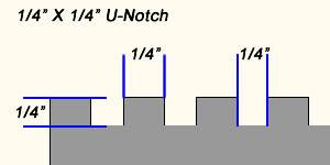"1/4"" X 1/4"" square notch trowel"