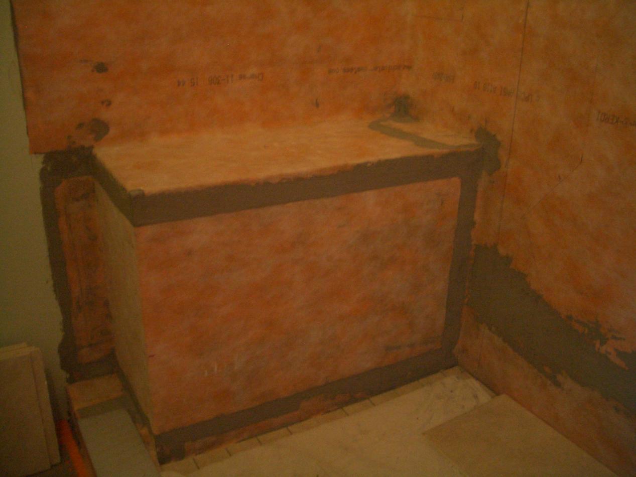 Kerdi Waterproofed Bench