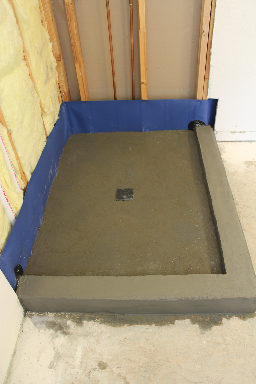 Creating a threshold or curb for your shower finished curb ready for tile dailygadgetfo Gallery